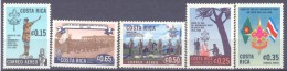 1968. Costa Rica, 50y Of Scouts In Costa Rica, 5v, Mint/** - Costa Rica