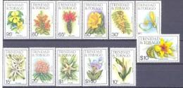 1963. Trinidad & Tobago, Flowers, 12v, Mint/** - Trinidad & Tobago (1962-...)