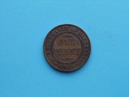 1917 I - Penny / KM 23 ( Uncleaned Coin - For Grade, Please See Photo ) !! - Penny