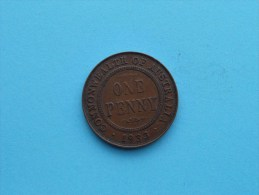 1933 - Penny / KM 23 ( Uncleaned Coin - For Grade, Please See Photo ) !! - Penny