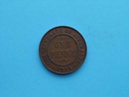 1935 - Penny / KM 23 ( Uncleaned Coin - For Grade, Please See Photo ) !! - Monnaie Pré-décimale (1910-1965)