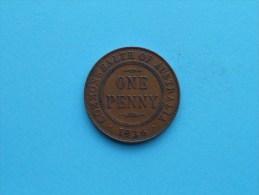 1936 - Penny / KM 23 ( Uncleaned Coin - For Grade, Please See Photo ) !! - Monnaie Pré-décimale (1910-1965)