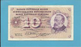 SWITZERLAND - 10 FRANCS - 1955 - Pick 45.b - Sign. 37 - Serie 5 G  - Gottfried Keller - BANQUE NATIONALE SUISSE - Suisse