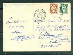 Carte Postale De    Norway-Narvik  Affranchie Pour La France En 1957 - Lfu15 - Covers & Documents