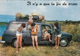 CPSM Humour Vacances - Il N'y A Que La Fin De Triste - Voiture Peugeot 403 Break - PKW