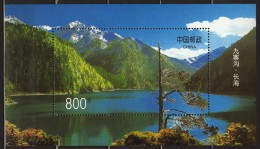 CINA (China): 1998 Nine-Village Valleymi Souvenir Sheet MNH - 1949 - ... Repubblica Popolare