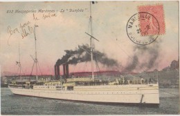 CPA BATEAUX PAQUEBOT Messageries Maritimes LE DUMBEA Carte Colorisée 1906 - Steamers