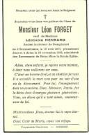 Meix Devant Virton  Sommethonnet Léon Forget  Veuf De Léocadie Henrard1877 1952 - Meix-devant-Virton