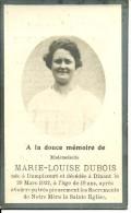 Rouvroy Dampicourt   Dinant Marie Louise  Dubois  1913 1932 - Rouvroy