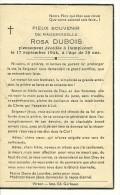 Rouvroy Dampicourt   Rosa Dubois  1905 1944 - Rouvroy