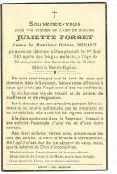 Rouvroy Dampicourt   Juliette Forget Veuve De Octave Devaux 1870 1940 - Rouvroy