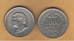 TURKMENISTAN - 1000 Manat 1999  KM15 - Turkménistan