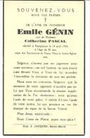 Rouvroy Dampicourt  Emile Genin Veuf De Catherine Pascal 1862 1944 - Rouvroy