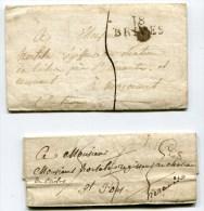 CORREZE De BRIVES 2 LAC De 1823 1824 Avec Linéaire 32x10 - Postmark Collection (Covers)