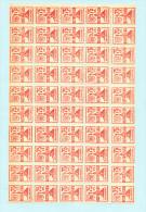 Poste Privée DISTRI-FLASH  ANTWERPEN 1969 - Jan Aerts De Postiljon - Panneau De 50 Timbres Neufs  -- WW/337 - Belgique