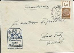 1937 - ENVELOPPE De La JOURNEE Du TIMBRE De MÜNCHEN Avec CACHET ILLUSTRE - Brieven