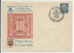 1939 - ENVELOPPE ENTIER POSTALde La JOURNEE Des PHILATELISTES De SALZBURG Avec CACHET ILLUSTRE - 1918-1945 1. Republik