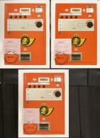 BELG.1984 Maximumkaarten OCB ATM 10 12 & 22 F ANTWERPEN - Franking Machines