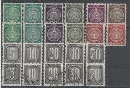 Lot DDR Dienst Gruppe A/B Michel No. 34 - 41 , 1 - 5 ** postfrisch / gestempelt used / siehe Scan