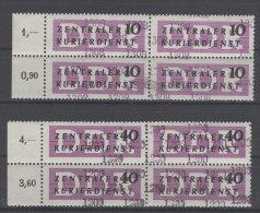 DDR Dienst Gruppe B Michel No. 10 , 12 ** postfrisch Viererblock