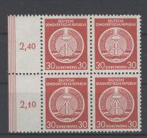 DDR Dienst Gruppe A Michel No. 11 X I ** postfrisch Viererblock