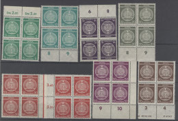 DDR Dienst Gruppe A Michel No. 34 - 41 A ** postfrisch Viererblock