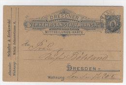 Privat Ganzsache Hansa Dresden gebraucht