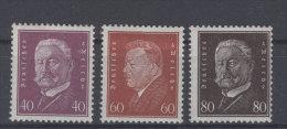 Lot Deutsches Reich Michel No. 418 , 421 , 422 * ungebraucht