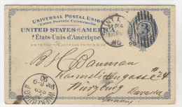 USA Ganzsache gebraucht 1890