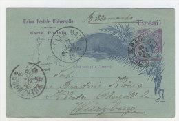Brasilien Ganzsache gebraucht 1897