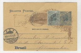 Brasilien Ganzsache gebraucht 1907
