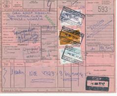 346/23 - Formule De Colis TP Chemins De Fer Gare BERCHEM STE AGATHE 1977 - Expéd. Trialco , Rue Alcyons - Chemins De Fer
