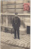 CPA PHOTO 75 PARIS III Police Policier Flic Cop Uniforme 3° Arrondissement 1905 Rare - Arrondissement: 03