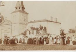 CPA PHOTO 17 SAINT CYR DU DORET Près Courçon Et St Sauveur D´Aunis Eglise Oratoir Et Presbytère Animation Fête Rare - France
