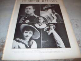 LE MONDE ILLUSTRE 16 JUILLET 1910 : ESPAGNE - IMPERATRICE EUGENIE A CROISSY - AFRIQUE OCCIDENTALE - BELGIQUE