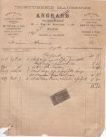 4 Factures Même Modèle Dont Une Avec Timbre De Quittance  1893 Et 1895  ANGRAND Teinturerie Paris - France