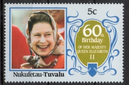 Tuvalu Nukufetau 1986 - Regina Elisabetta II Queen Elizabeth II MNH ** - Tuvalu