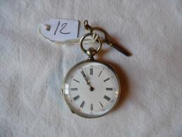 MONTRE EN ARGENT A CLÉ (en L'état) - Relojes De Bolsillo