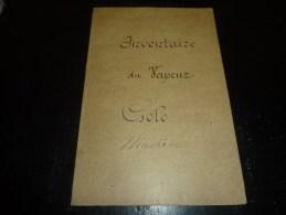 """COMPAGNIE FRAISSINET - PAQUEBOT POSTE """" LE GOLO """" INVENTAIRE DE L'ARMEMENT, DE LA MACHINE, RESTAURANT 1906 ***RARE***"""