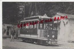 78 - VERSAILLES - CLAGNY TRAMWAY GARE RIVE DROITE -RESERVOIR - TRIANON - RARE CARTE PHOTO - Versailles