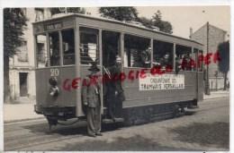 78 - VERSAILLES -   TRAMWAY CINQUANTENAIRE DES TRAMWAYS VERSAILLAIS- 4 JUILLET 1948 - RARE CARTE PHOTO - Versailles