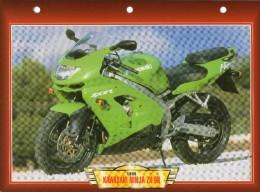1998 KAWASAKI NINJA ZX-9R  /   FICHE TECHNIQUE MOTO FORMAT A4  DÉTAILS CARACTÉRISTIQUES TBE - Motor Bikes