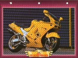 1999 KAWASAKI ZZR 1100 PARIS NORD MOTO  /   FICHE TECHNIQUE MOTO FORMAT A4  DÉTAILS CARACTÉRISTIQUES TBE - Motor Bikes