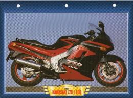 1993 KAWASAKI  ZZR 1100 /   FICHE TECHNIQUE MOTO FORMAT A4  DÉTAILS CARACTÉRISTIQUES TBE - Motor Bikes