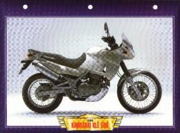 1998 KAWASAKI KLE 500  /   FICHE TECHNIQUE MOTO FORMAT A4  DÉTAILS CARACTÉRISTIQUES TBE - Motor Bikes