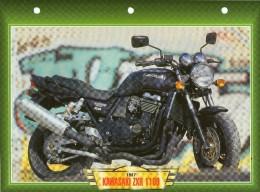 1987 KAWASAKI ZXR 1100   /   FICHE TECHNIQUE MOTO FORMAT A4  DÉTAILS CARACTÉRISTIQUES TBE - Motor Bikes