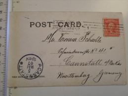 USA -KY  Sent From  Covington  1907 - To Canstatt Germany   D127194 - Covington