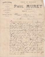4 Factures   1899   Paul MURET Serrurerie  GAP - France