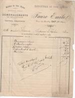2 Factures  2 Modèles 1903 Et 1901  Emile FAURE GAP ébenisterie Menuiserie - France