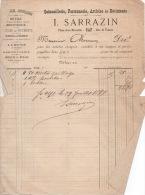 Facture   1899  Sarrazin  Quincaillerie GAP - France